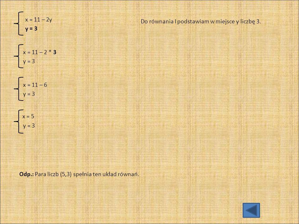 c) / * 6 / * 6 Oba równania mnożę przez wspólny mianownik ułamków.