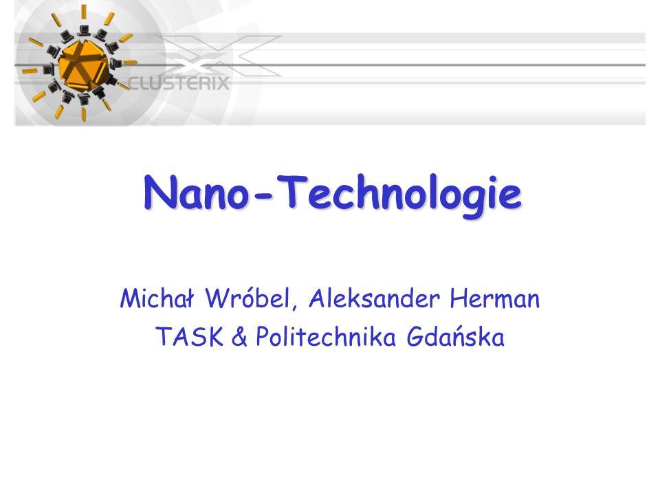 Nano-Technologie Michał Wróbel, Aleksander Herman TASK & Politechnika Gdańska