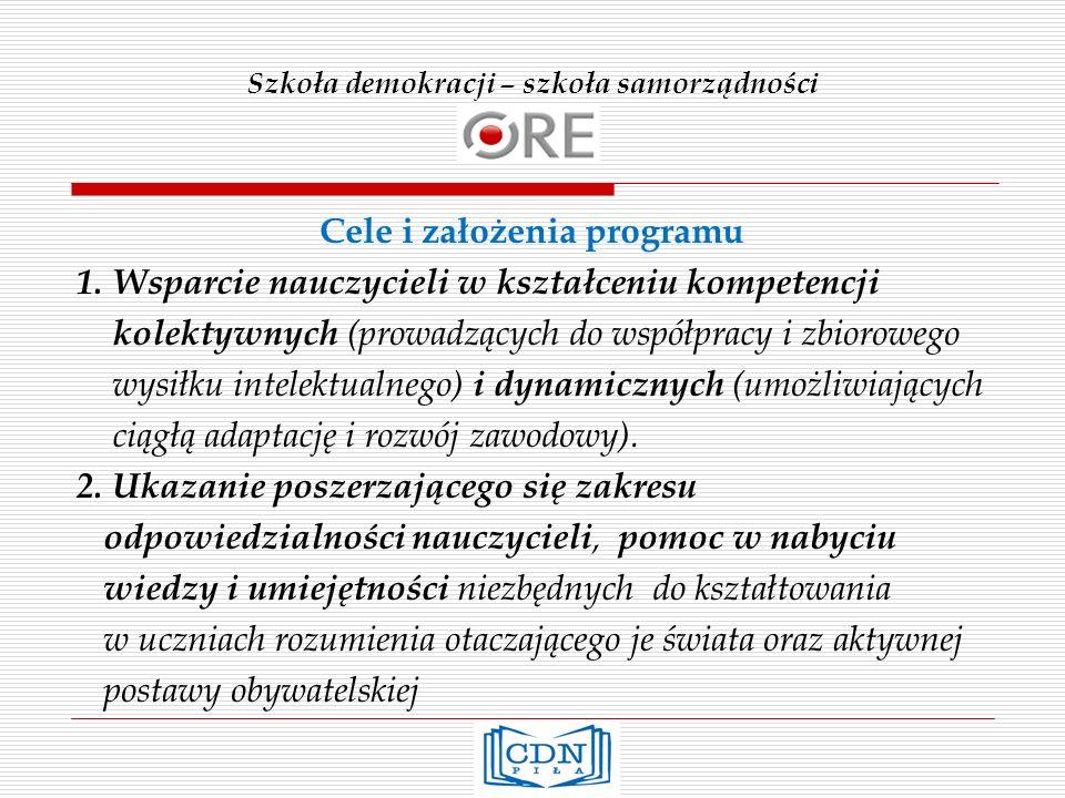 Szkoła demokracji – szkoła samorządności Korzyści dla szkoły: 1.