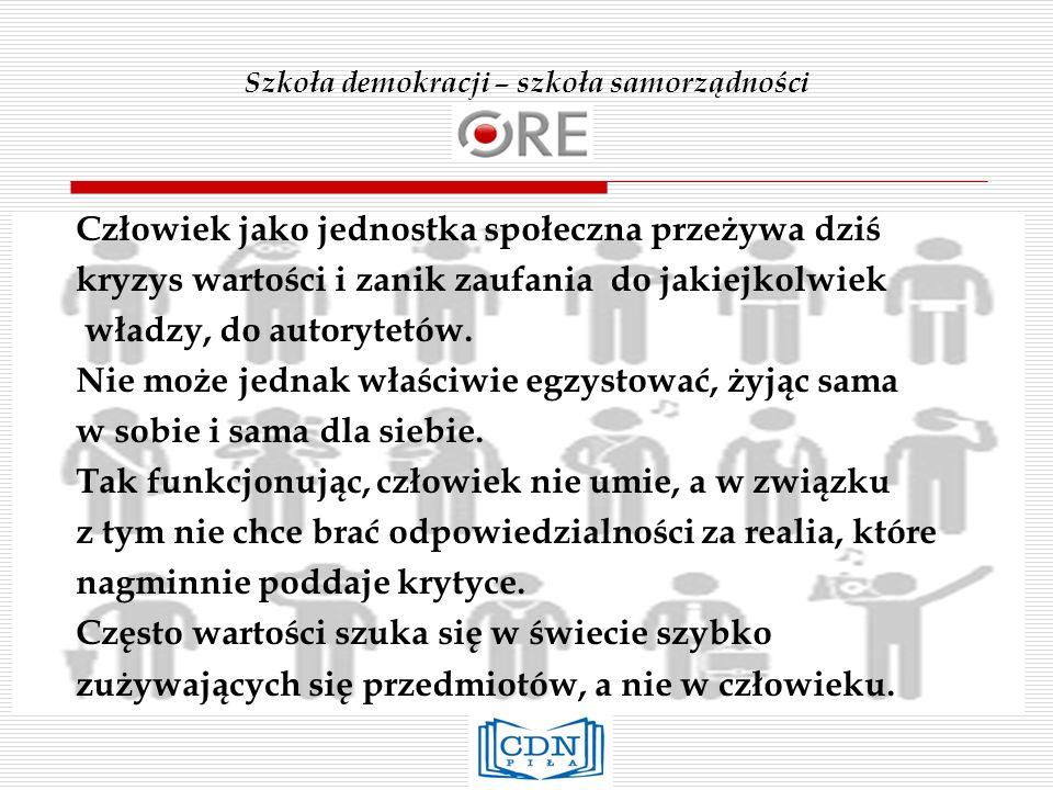 Szkoła demokracji – szkoła samorządności Ustawa o Systemie Oświaty Oświata w Rzeczypospolitej Polskiej stanowi wspólne dobro całego społeczeństwa; kieruje się zasadami zawartymi w Konstytucji Rzeczypospolitej Polskiej, a także wskazaniami zawartymi w Powszechnej Deklaracji Praw Człowieka, Międzynarodowym Pakcie Praw Obywatelskich i Politycznych oraz Konwencji o Prawach Dziecka.