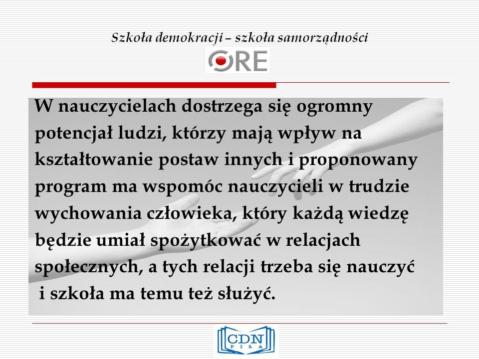 Szkoła demokracji – szkoła samorządności Prawa człowieka w pracy szkoły – cd.