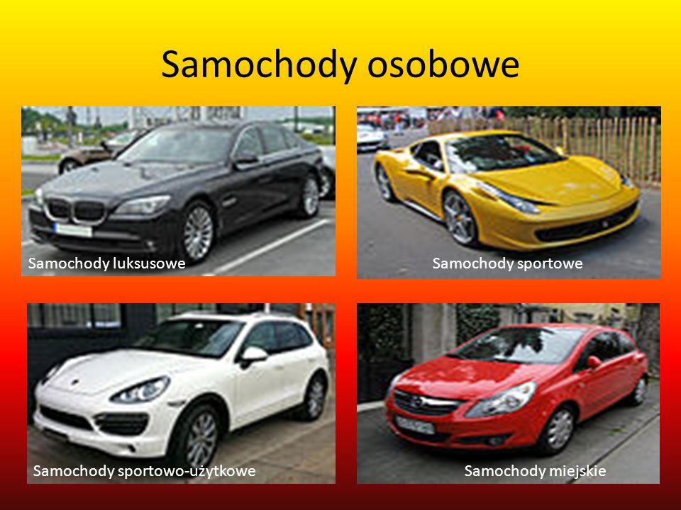 Samochody osobowe Samochody sportowe Samochody miejskie Samochody luksusowe Samochody sportowo-użytkowe