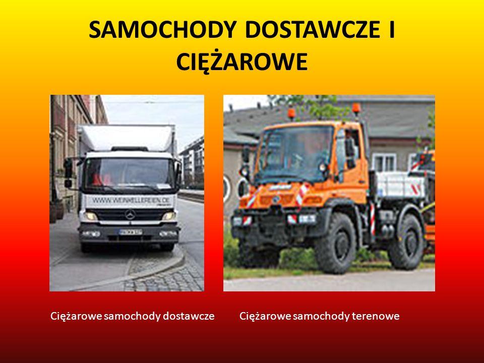 SAMOCHODY DOSTAWCZE I CIĘŻAROWE Ciężarowe samochody dostawczeCiężarowe samochody terenowe