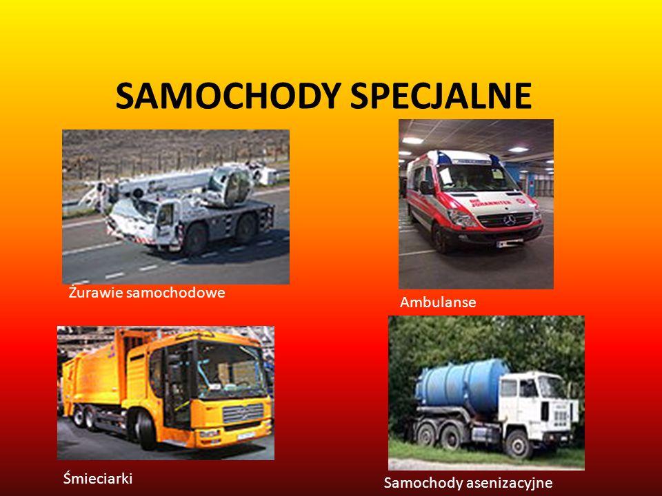 SAMOCHODY SPECJALNE Żurawie samochodowe Ambulanse Samochody asenizacyjne Śmieciarki