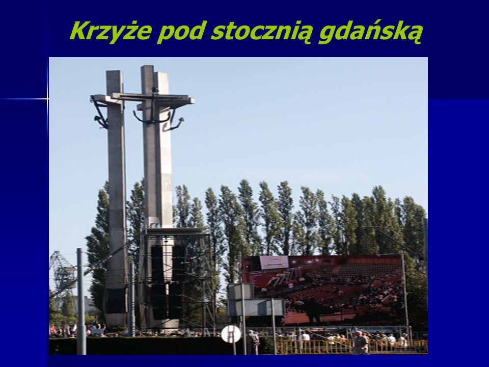 Krzyże pod stocznią gdańską