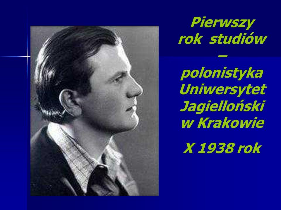 Pierwszy rok studiów – polonistyka Uniwersytet Jagielloński w Krakowie X 1938 rok