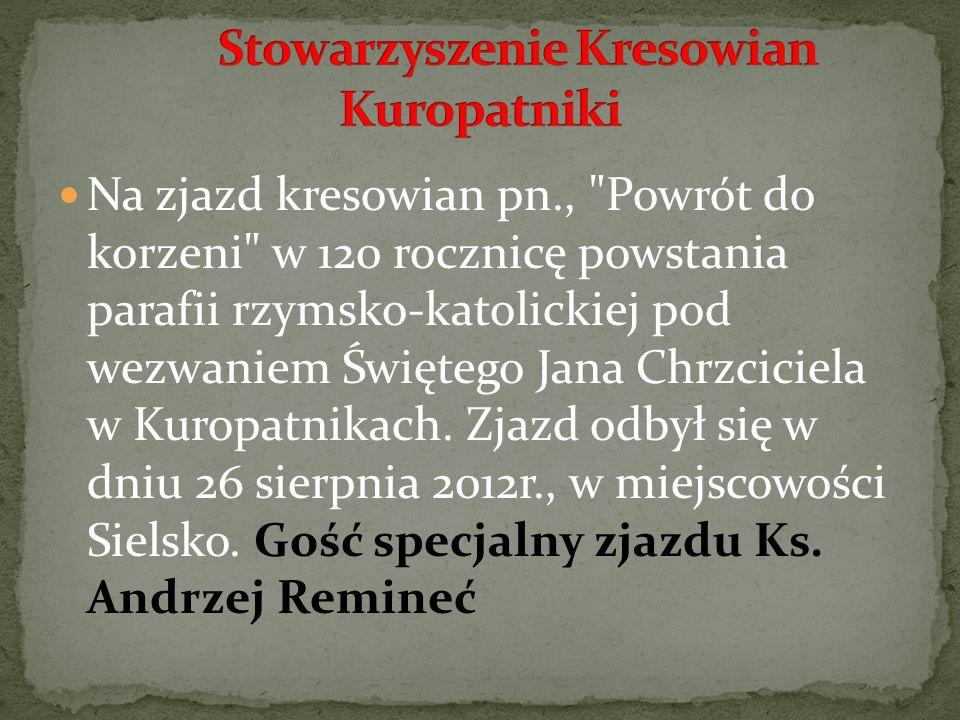 Na zjazd kresowian pn.,