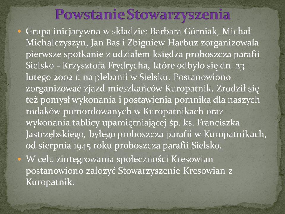 Grupa inicjatywna w składzie: Barbara Górniak, Michał Michalczyszyn, Jan Bas i Zbigniew Harbuz zorganizowała pierwsze spotkanie z udziałem księdza pro