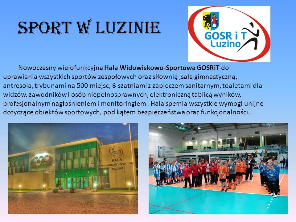 Sport w luzinie Nowoczesny wielofunkcyjna Hala Widowiskowo-Sportowa GOSRiT do uprawiania wszystkich sportów zespołowych oraz siłownią,sala gimnastyczn