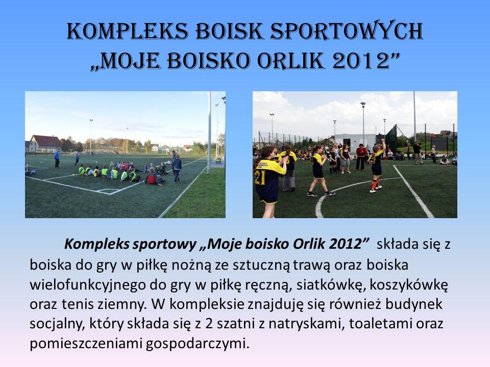 Kompleks Boisk Sportowych Moje Boisko Orlik 2012 Kompleks sportowy Moje boisko Orlik 2012 składa się z boiska do gry w piłkę nożną ze sztuczną trawą o