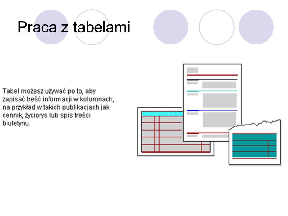 Praca z tabelami