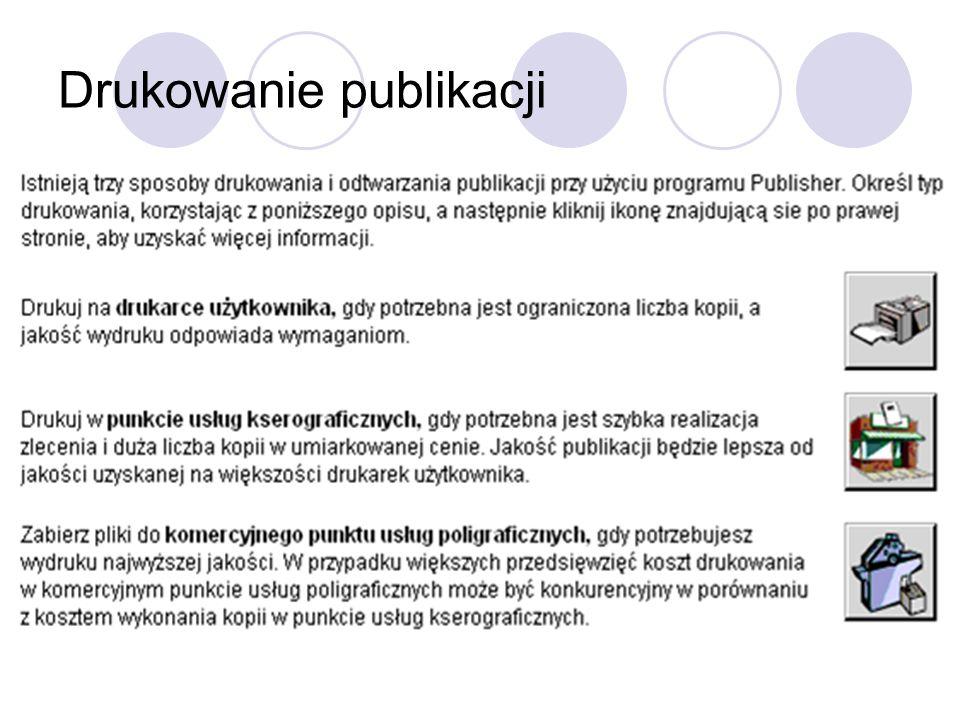 Drukowanie publikacji