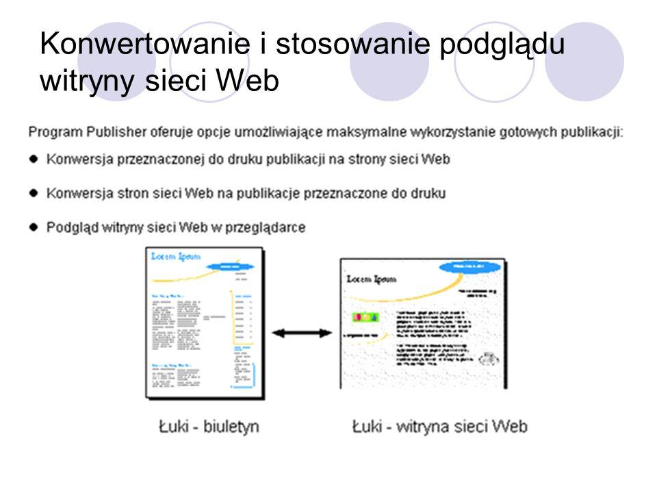 Konwertowanie i stosowanie podglądu witryny sieci Web