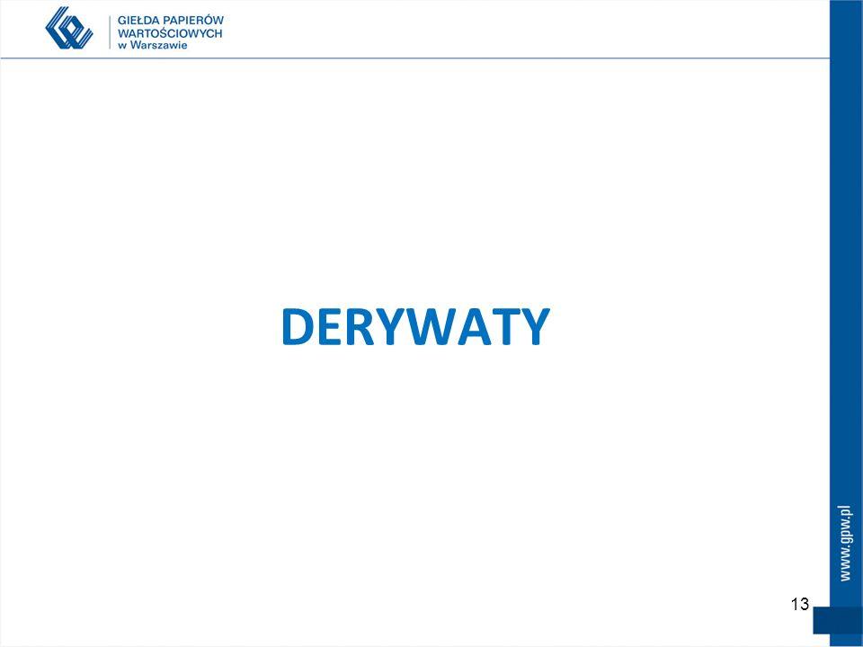 13 DERYWATY