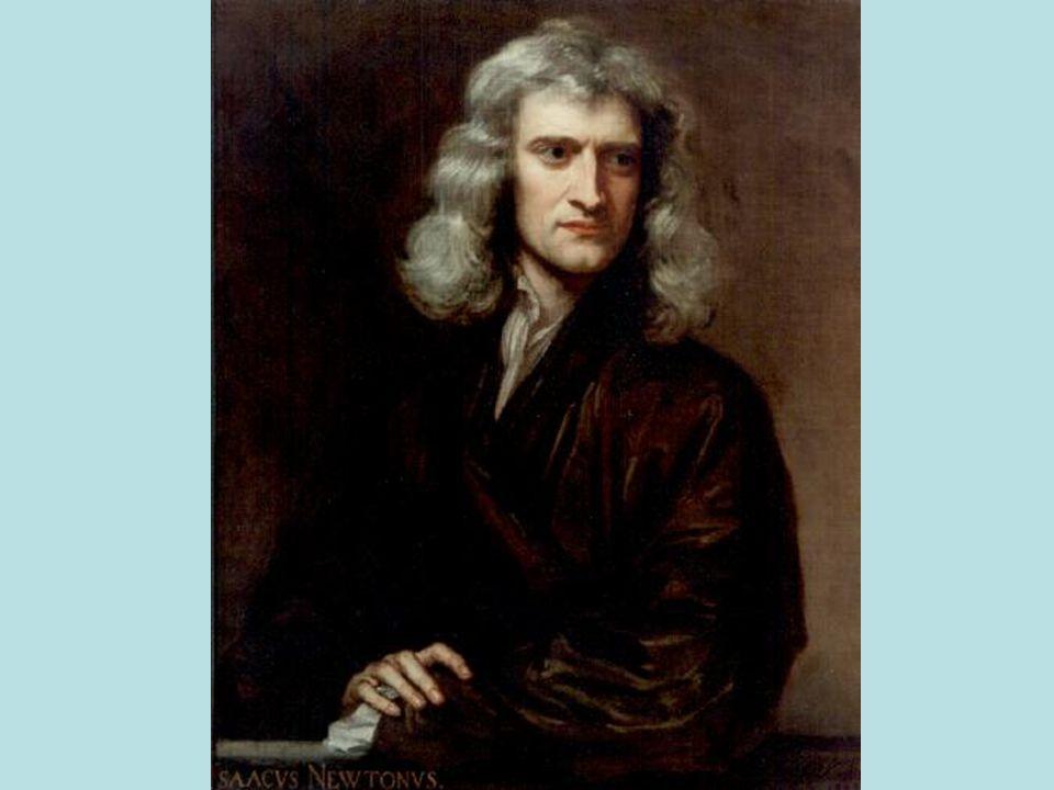 Odkrycie Prawa Ciążenia Legenda głosi, że Newton siedział pod jabłonią gdy spadające na jego głowę jabłko, uświadomiło mu, że upadek ciał na Ziemię i ruch ciał niebieskich są powodowane tą samą siłą – grawitacją.