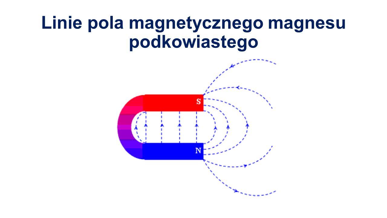 Linie pola magnetycznego magnesu podkowiastego