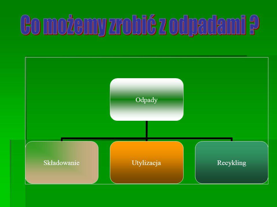 Odpady SkładowanieUtylizacjaRecykling