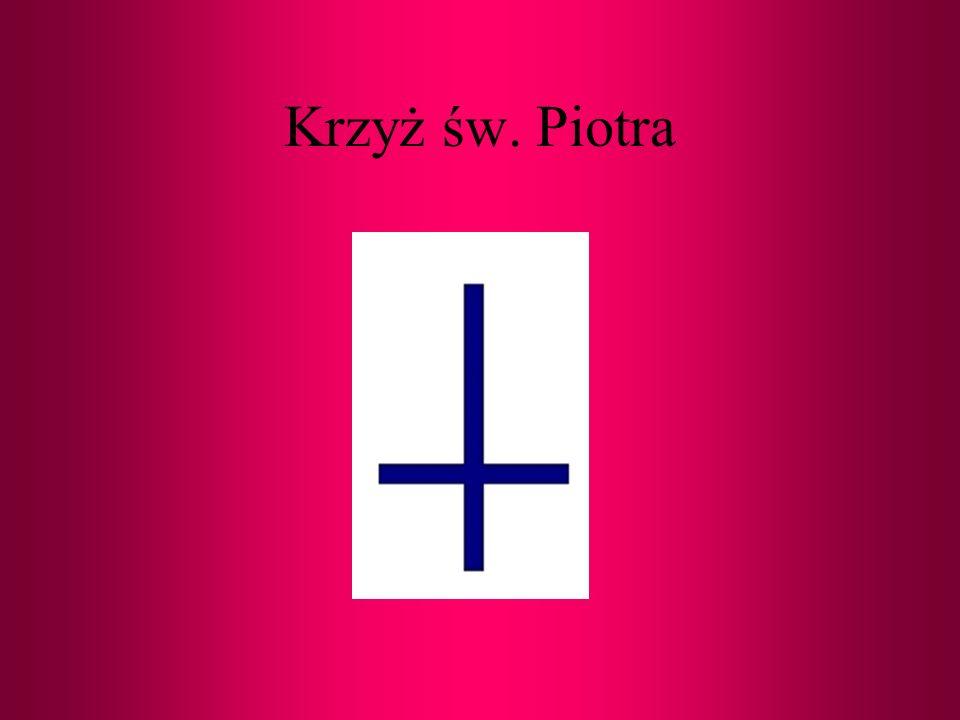 Krzyż łaciński - podstawowa forma krzyża chrześcijańskiego. Początkowo używany z oporami ze względu na negatywne konotacje symbolu ukrzyżowania.