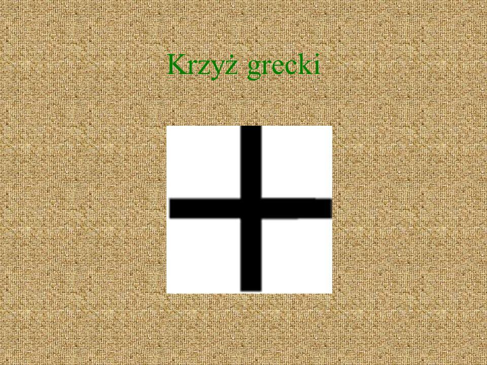 Forma krzyża, będąca odwróceniem o 180 stopni krzyża łacińskiego.