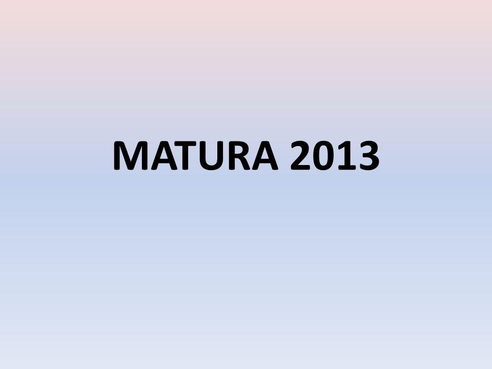 Dokładne informacje dotyczące procedury zdawania egzaminu maturalnego w maju 2013r.