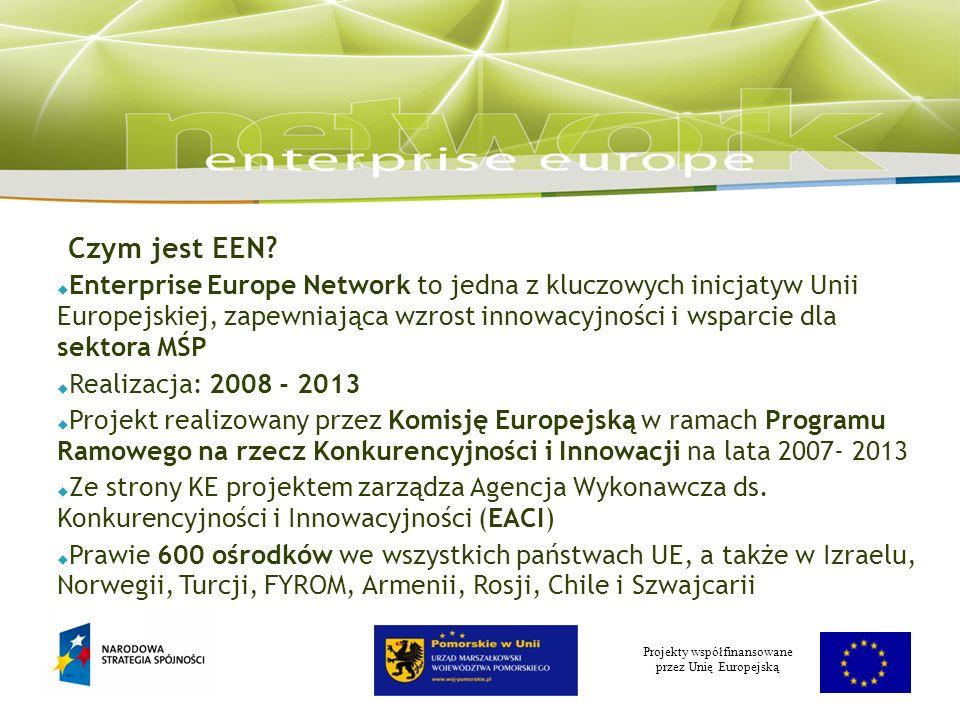 Projekty współfinansowane przez Unię Europejską Czym jest EEN.