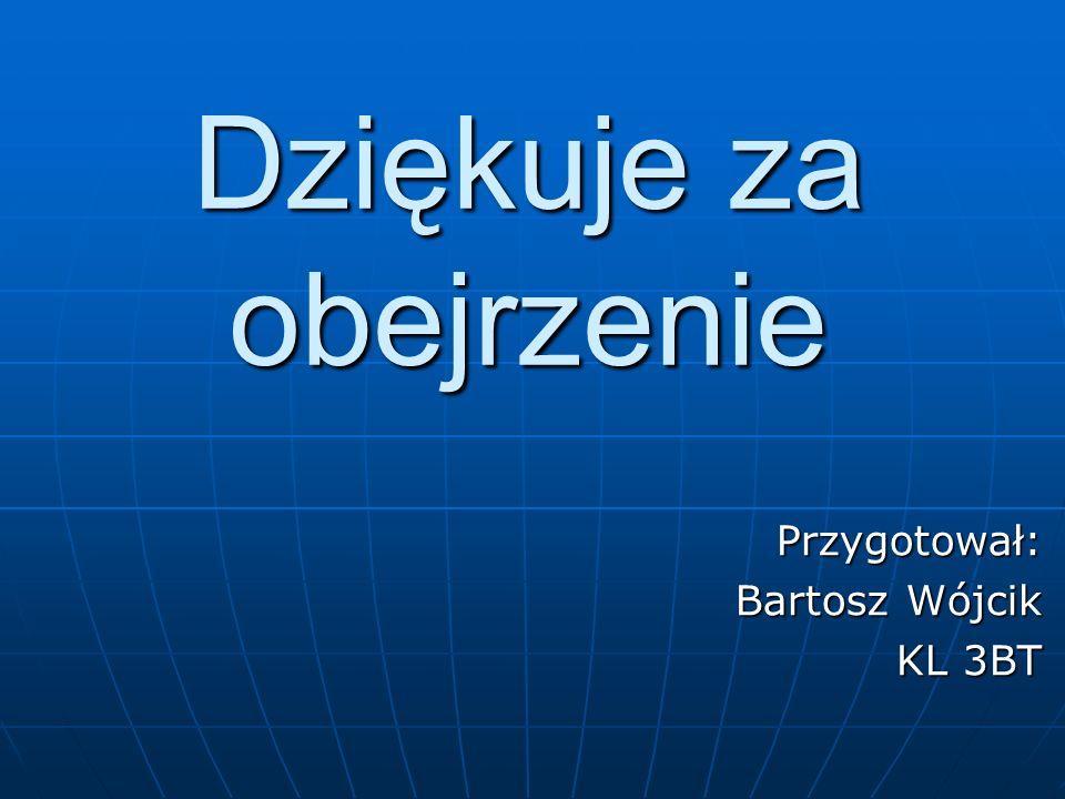 Dziękuje za obejrzenie Przygotował: Bartosz Wójcik KL 3BT