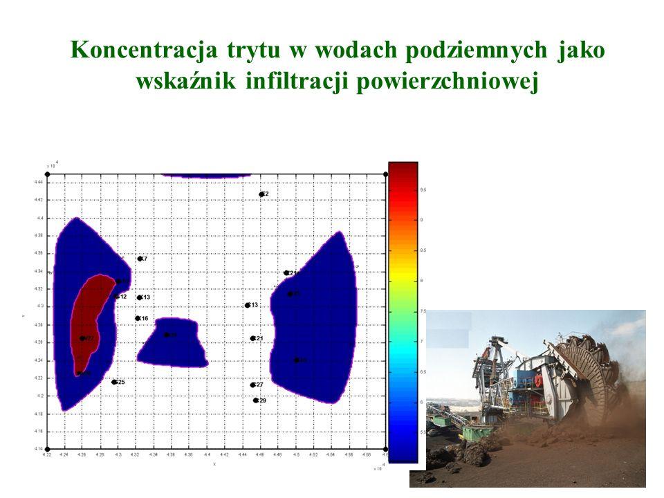 Badania znacznikowe kierunków przepływów wód gruntowych 150-375 m ppt w rejonie wysadu solnego Dębina Rezultaty badań metodą wielootworową, z zastosowaniem znacznika barwnego: fluorosceiny, posłużyły do budowy drugiej bariery ochronnej wysadu solnego.