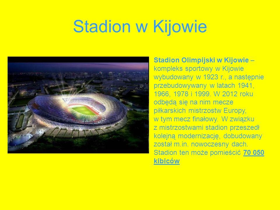 Stadion w Kijowie Stadion Olimpijski w Kijowie – kompleks sportowy w Kijowie wybudowany w 1923 r., a następnie przebudowywany w latach 1941, 1966, 197
