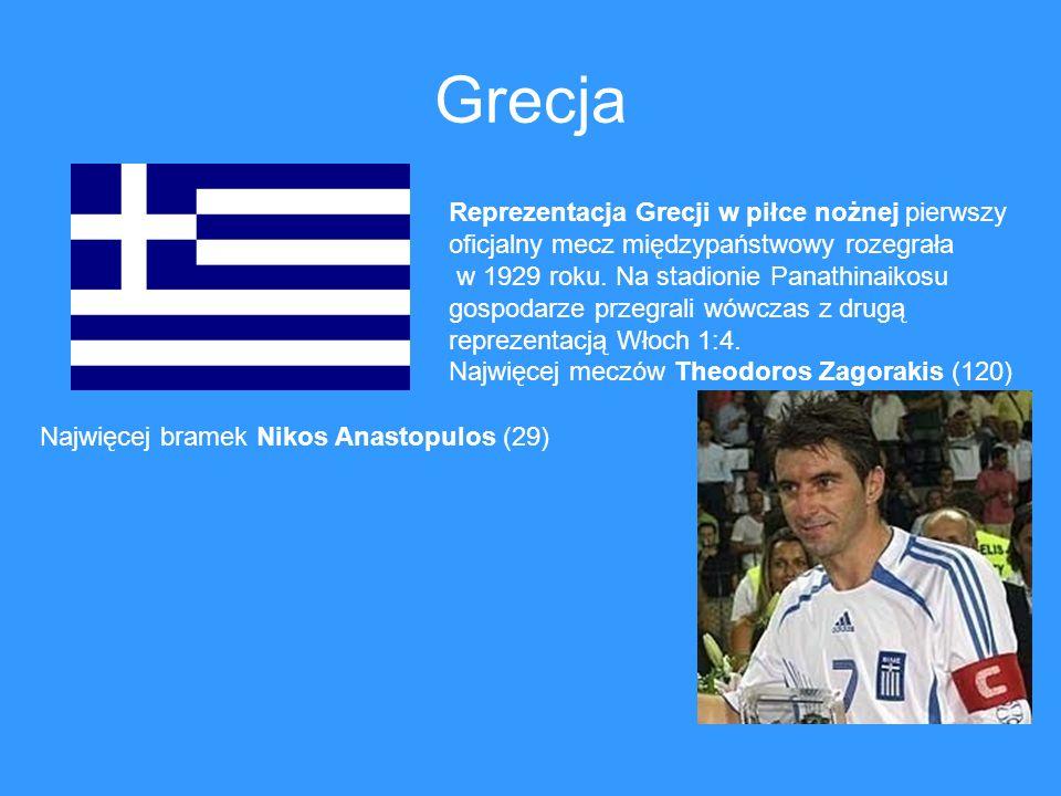 Grecja Reprezentacja Grecji w piłce nożnej pierwszy oficjalny mecz międzypaństwowy rozegrała w 1929 roku. Na stadionie Panathinaikosu gospodarze przeg