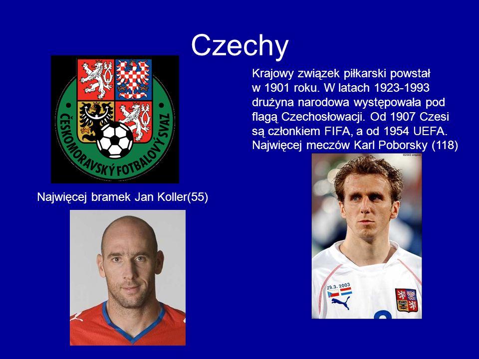 Czechy Krajowy związek piłkarski powstał w 1901 roku. W latach 1923-1993 drużyna narodowa występowała pod flagą Czechosłowacji. Od 1907 Czesi są człon