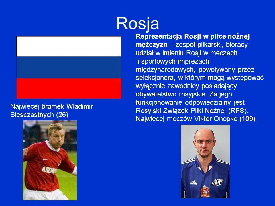 Rosja Reprezentacja Rosji w piłce nożnej mężczyzn – zespół piłkarski, biorący udział w imieniu Rosji w meczach i sportowych imprezach międzynarodowych