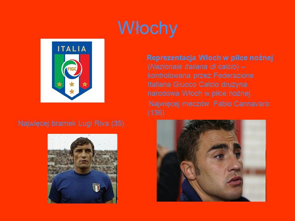 Włochy Reprezentacja Włoch w piłce nożnej (Nazionale italiana di calcio) – kontrolowana przez Federazione Italiana Giuoco Calcio drużyna narodowa Włoc