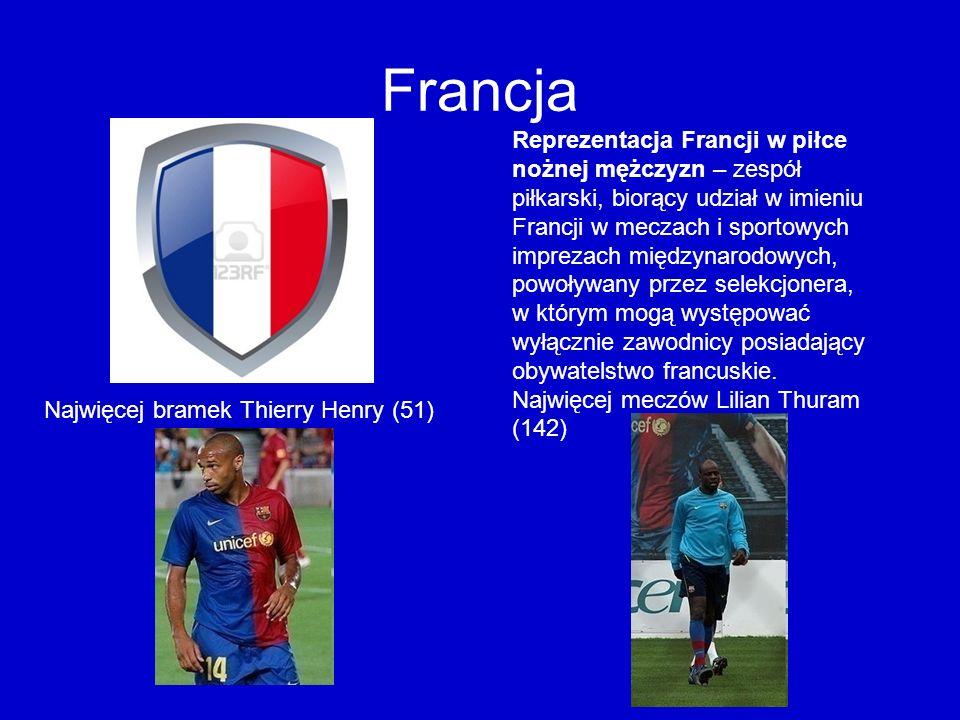 Francja Reprezentacja Francji w piłce nożnej mężczyzn – zespół piłkarski, biorący udział w imieniu Francji w meczach i sportowych imprezach międzynaro