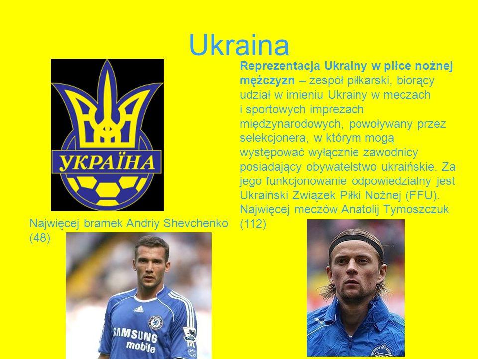 Ukraina Reprezentacja Ukrainy w piłce nożnej mężczyzn – zespół piłkarski, biorący udział w imieniu Ukrainy w meczach i sportowych imprezach międzynaro