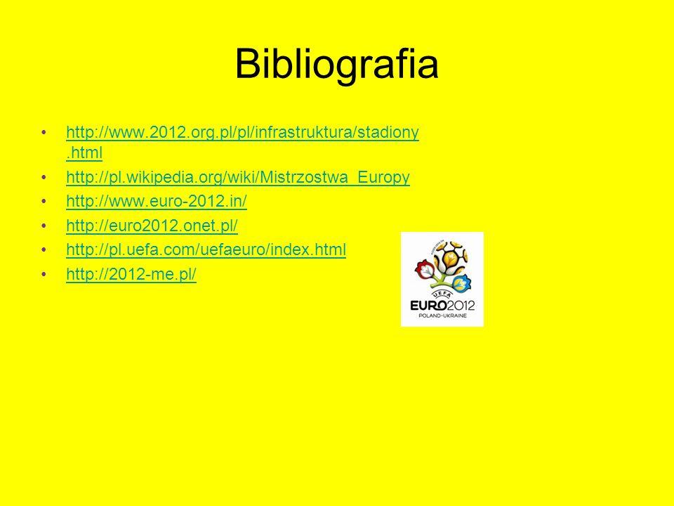 Bibliografia http://www.2012.org.pl/pl/infrastruktura/stadiony.htmlhttp://www.2012.org.pl/pl/infrastruktura/stadiony.html http://pl.wikipedia.org/wiki