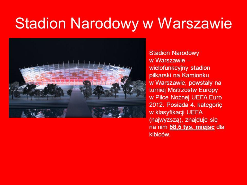 Stadion Narodowy w Warszawie Stadion Narodowy w Warszawie – wielofunkcyjny stadion piłkarski na Kamionku w Warszawie, powstały na turniej Mistrzostw E
