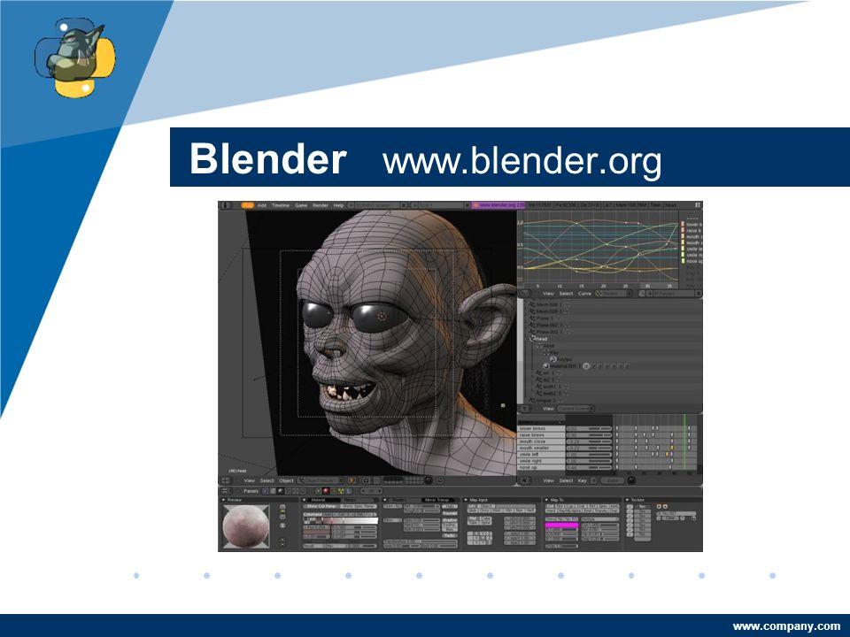 Company LOGO www.company.com Blender www.blender.org