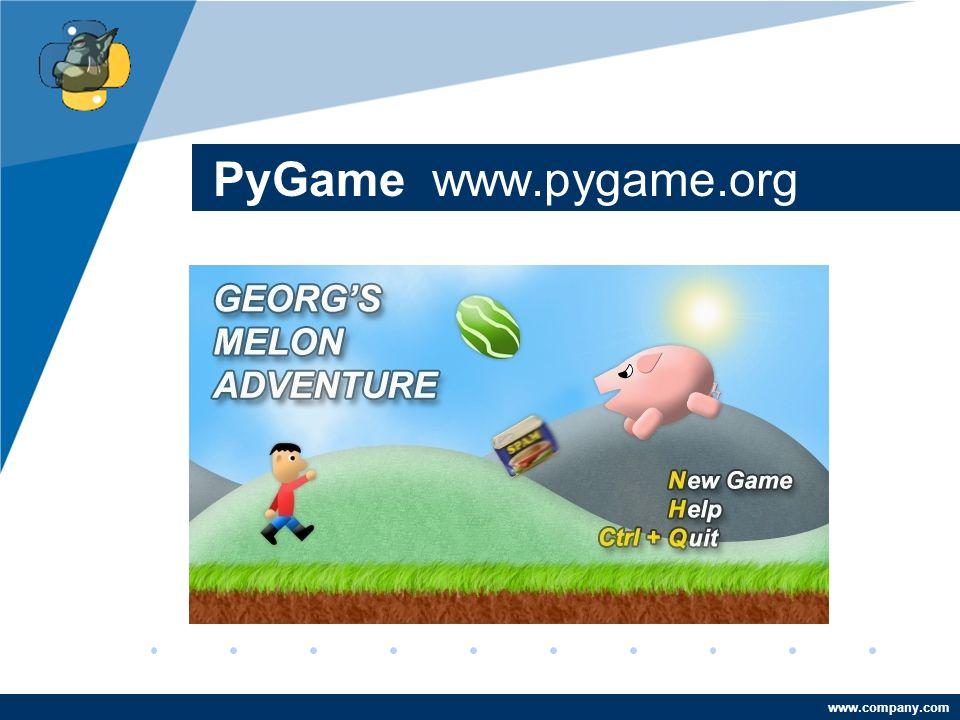 Company LOGO www.company.com PyGame www.pygame.org