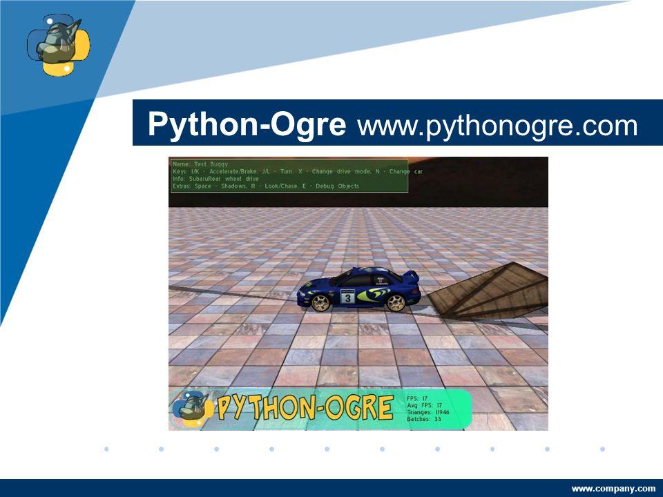 Company LOGO www.company.com Python-Ogre www.pythonogre.com