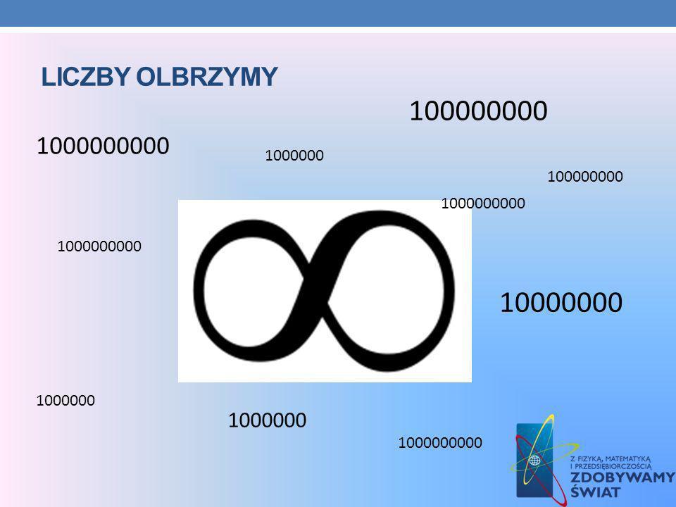 LICZBY OLBRZYMY 100000000 10000000 1000000 1000000000 1000000 1000000000 100000000 1000000