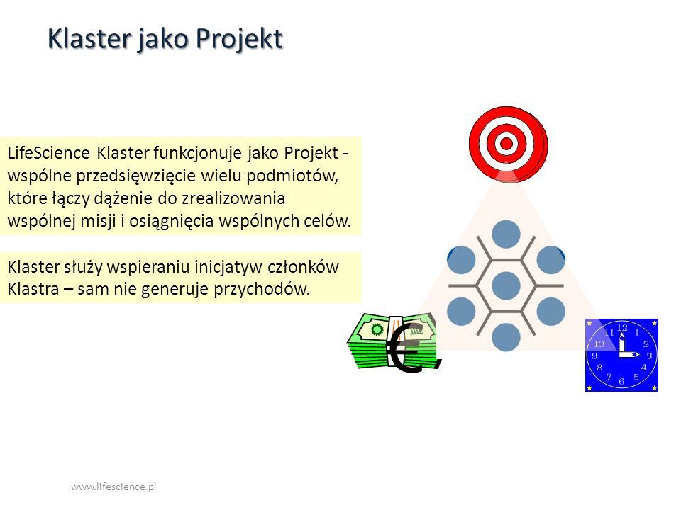 LifeScience Klaster funkcjonuje jako Projekt - wspólne przedsięwzięcie wielu podmiotów, które łączy dążenie do zrealizowania wspólnej misji i osiągnię