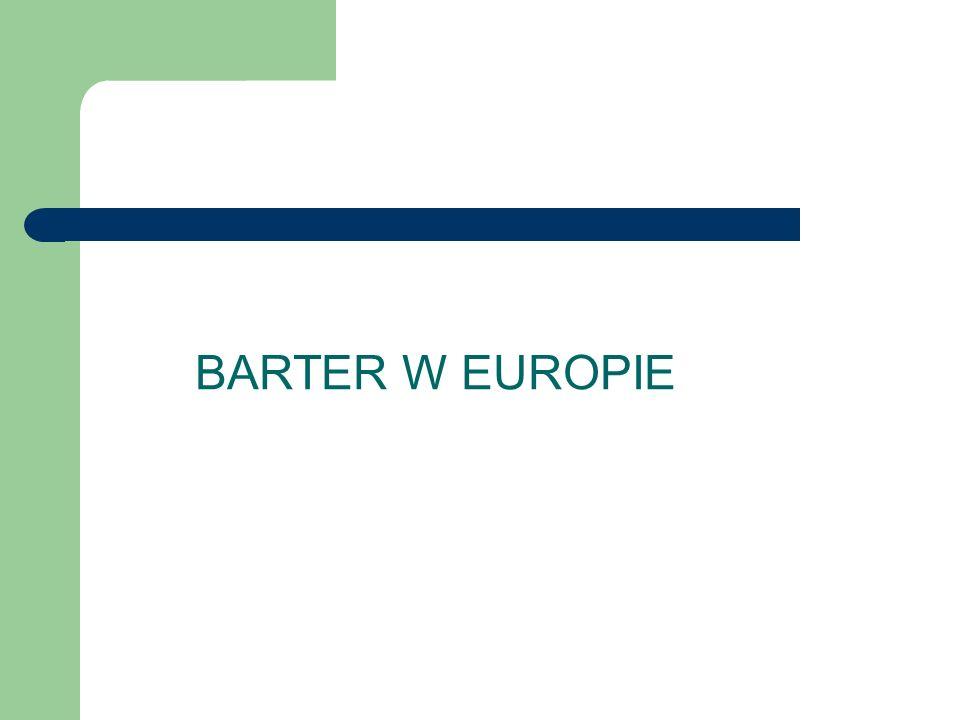 Pierwsza platforma barterowa W 1934 r Szwajcarzy uruchomili pierwszą platformę barterową.