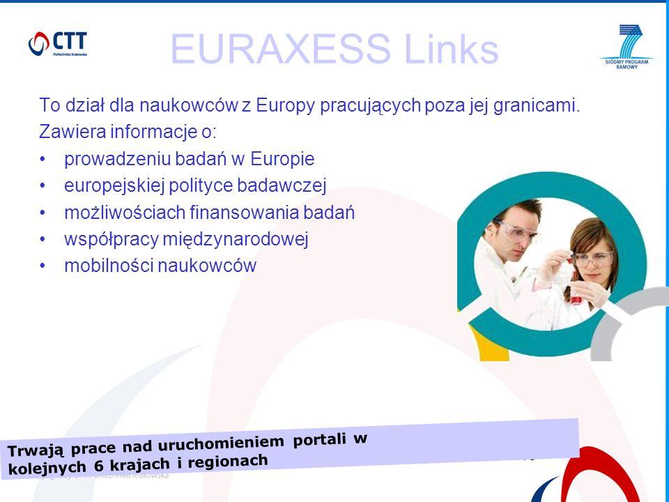 8/15 EURAXESS Links To dział dla naukowców z Europy pracujących poza jej granicami.