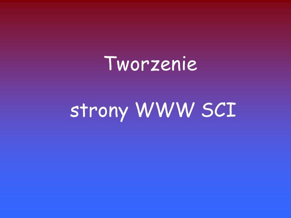 Tworzenie strony WWW SCI