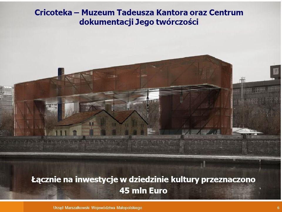 Urząd Marszałkowski Województwa Małopolskiego 7 Rozbudowana sieć dróg łącznie 600 km nowych i zmodernizowanych rozwiązań drogowych