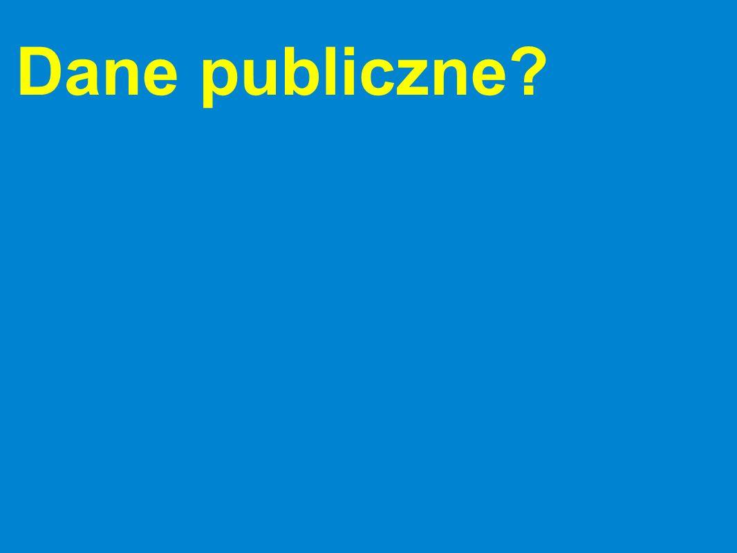 Dane publiczne?