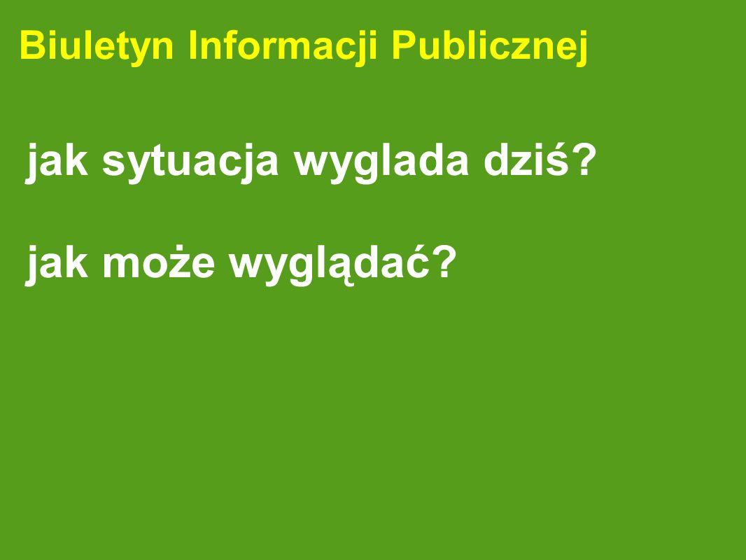 Biuletyn Informacji Publicznej jak sytuacja wyglada dziś? jak może wyglądać?
