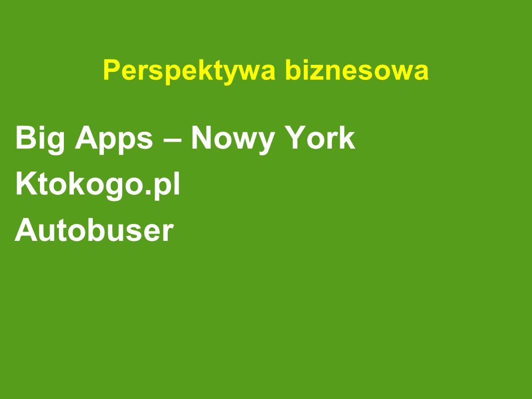 Perspektywa biznesowa Big Apps – Nowy York Ktokogo.pl Autobuser