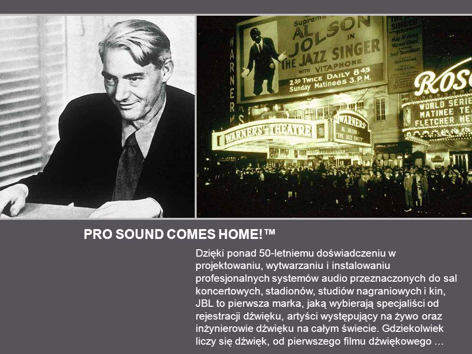 PRO SOUND COMES HOME.