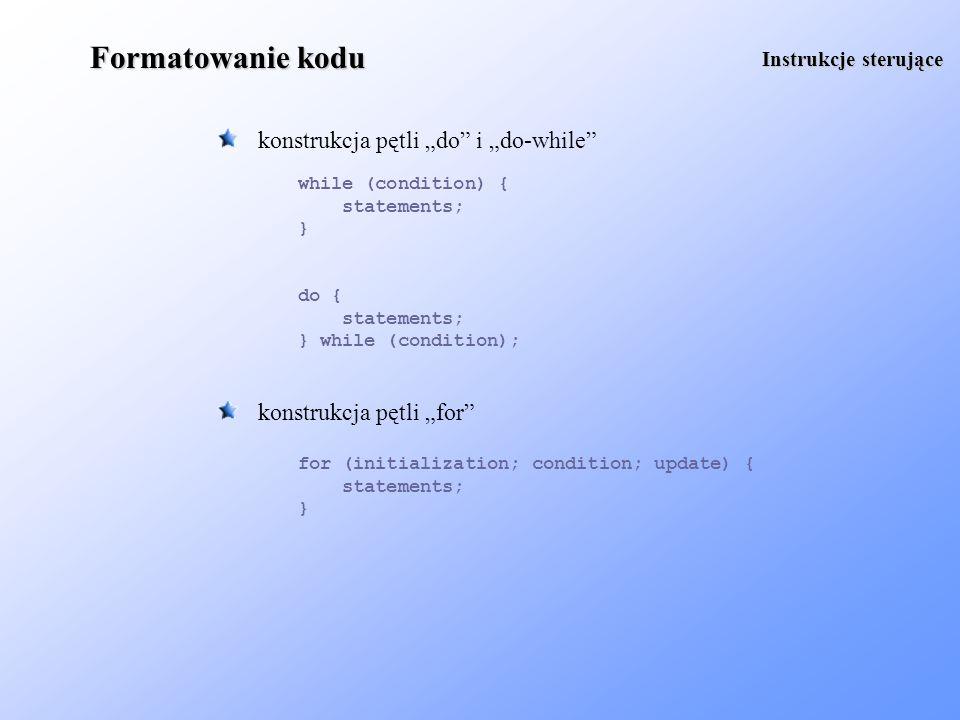 Logowanie podobne możliwości daje nam pakiet org.apache.log4j Rejestracja Logger logger = Logger.getLogger(logger name); logger.setLevel(Level.INFO); logger.info(information); - używa się go podobnie jak pakietu java.util.logging log4j daje nam duże możliwości konfiguracji - wewnątrz kodu programu BasicConfigurator.configure(); automatyczna konfiguracja (poziomy logowania są ustawiane na domyślne wartości) - za pomocą pliku konfiguracyjnego PropertyConfigurator.configure(configuration.conf); zostanie użyty plik konfiguracyjny configuration.conf
